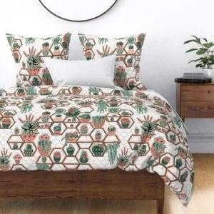 6335042 marrakesh garden succulents marrakech succulent fabric cacti western succulent flowers succulent flor by magentarosedesigns