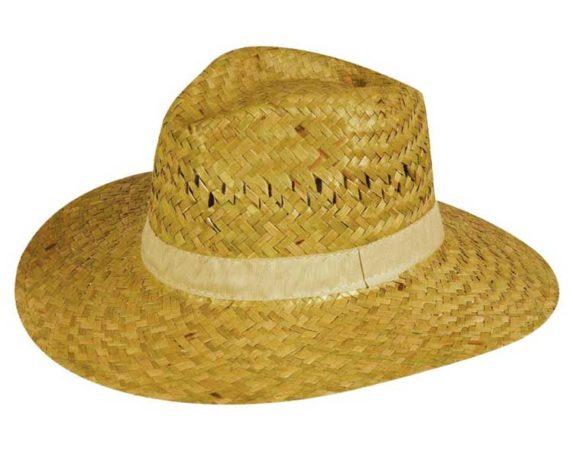 Cappello Safari In Paglia 100% Naturale