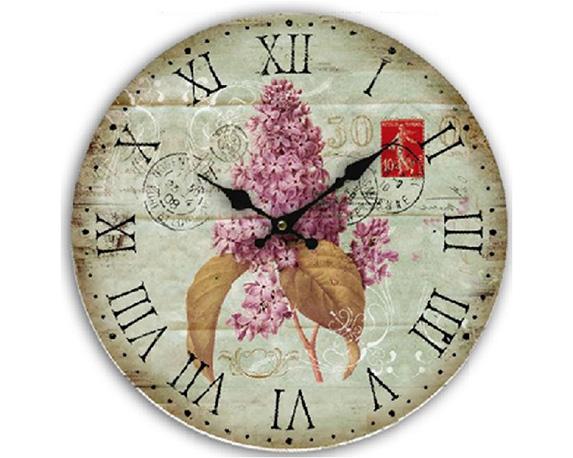 Orologio Lilla Vintage Mdf