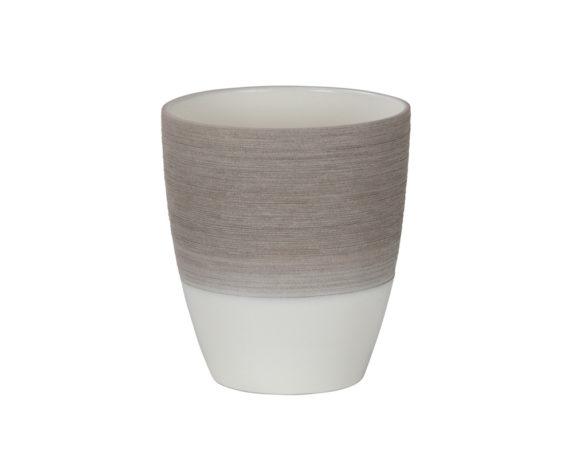 Vaso Per Orchidea Espresso Cream D15