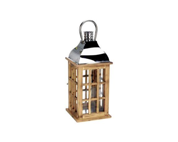 Lanterna Legno E Metallo Medium