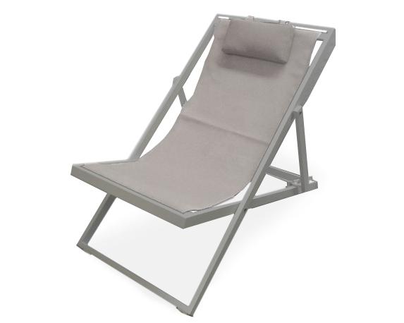 Sdraio New Relax Taupe Alluminio