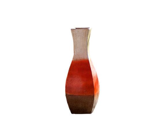 Anfora Cubo Estilizado 65h Terracotta