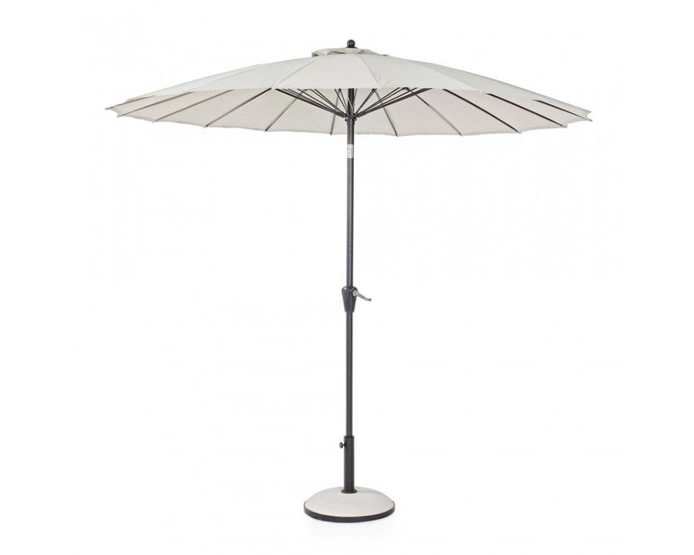bizzotto ombrellone atlanta tondo o27mt arredo giardino ombrelloni alluminio ecrù 1