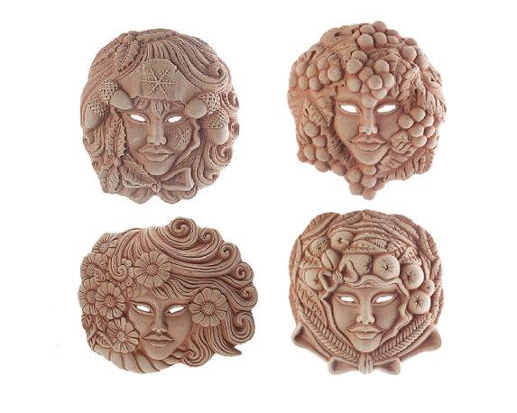 Mascherine Medie 4 Stagioni Terracotta