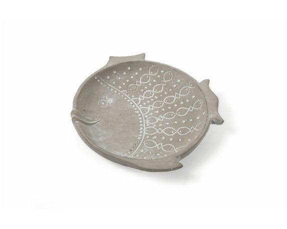 Piatto Pesce In Terracotta 27cm