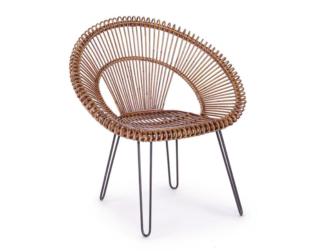 poltrona esteban complementi relax arredo giardino bizzotto acciaio rattan 6 1