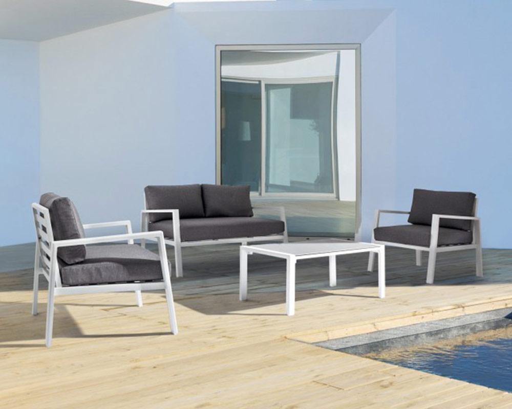 salotto koral c c alluminio textilene bizzotto grigio scuro set4 arredo giardino comodi salotti 5 1