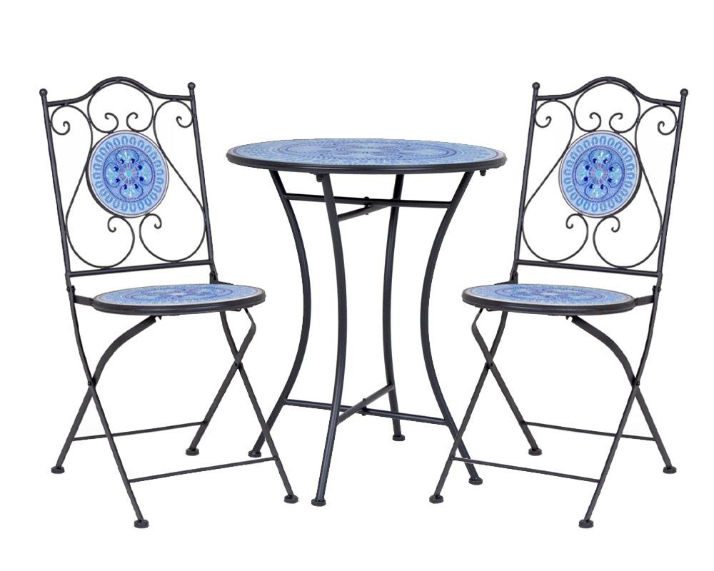 set bisanzio set pranzo arredo giardino bizzotto acciaio ceramica 1