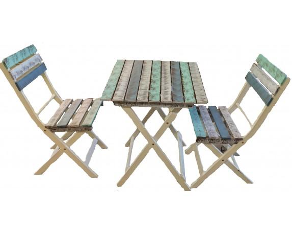 set tavolo 2 sedie acacia multicolore 1