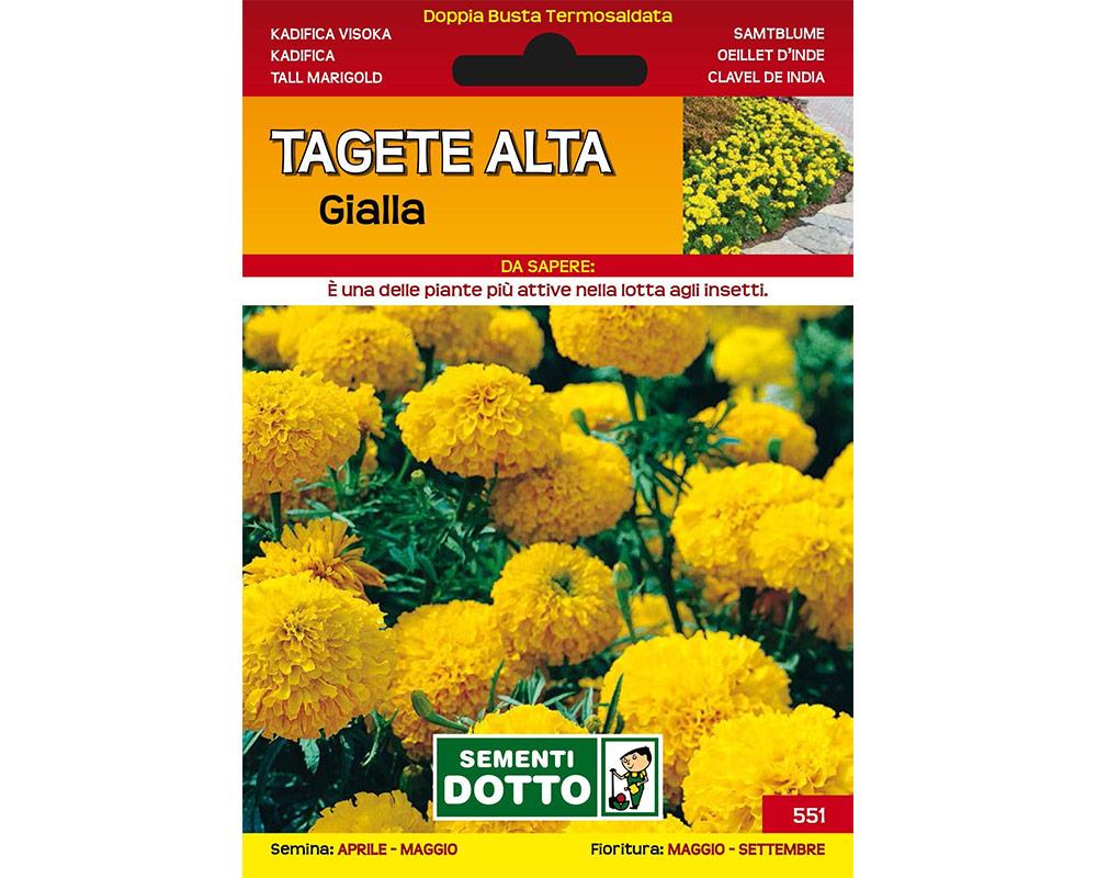tagete alta gialla sementi dotto sementi da fiore bulbi e sementi giardinaggio fiori 1 1.jpg1  1 1