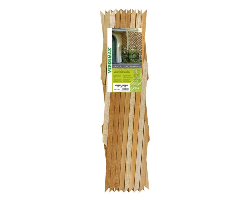 traliccio estensibile in legno di pino duro 7580 giardinaggio decorativi grigliati