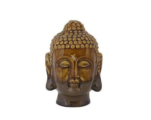 Buddha Milo Giallo Ceramica