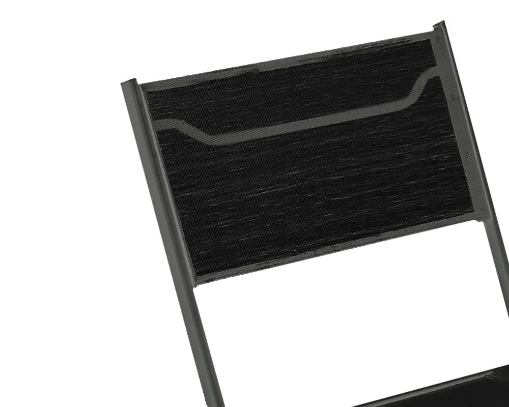 Set daniela set pranzo completi set bistro alluminio vetro nero 1