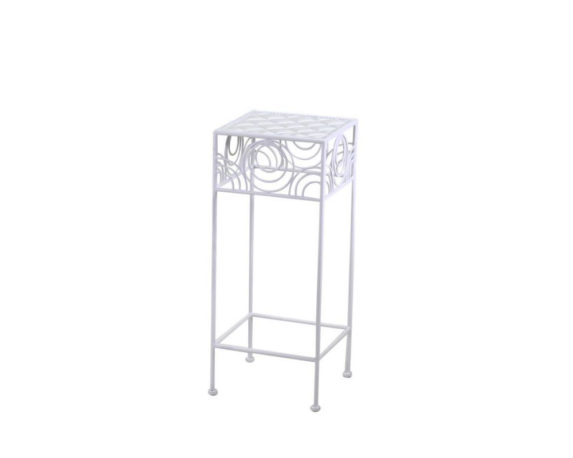 Tavolino Geometrie Small Bianco Metallo