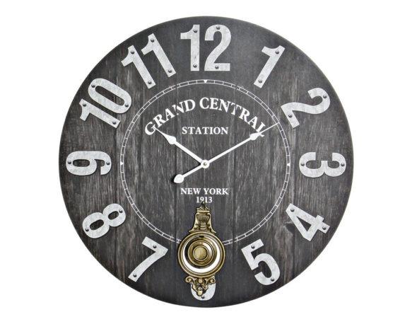 Orologio Parete Pendolo Vintage Legno