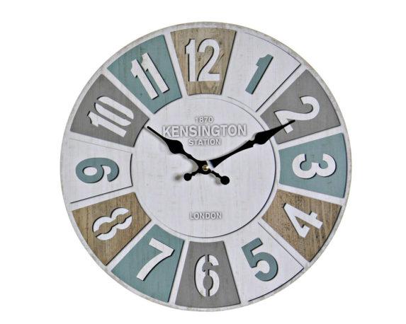 Orologio Parete Vintage Multicolor Legno