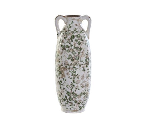Vaso Large Antichizzato Ceramica Bianco