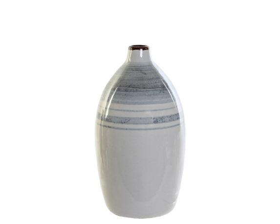 Vaso Bicolore Stretto Gres Porcellana