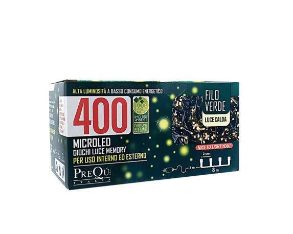Catena Luci 11m 400 Microled  Luce Calda C-timer
