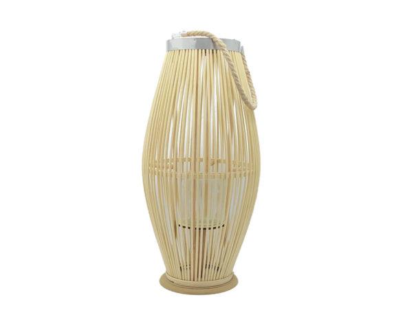 Lanterna Bamboo Bombata Beige