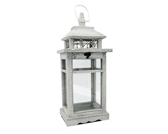 Lanterna Art Nouveau Decapata Grigia Legno