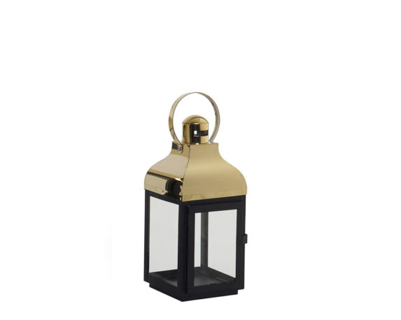 Lanterna Cristallo Small Golder