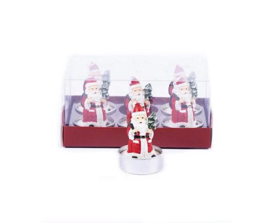 Box 6 Tealight Babbo Natale