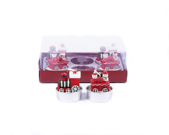 Box 6 Tealight Trenino Rosso