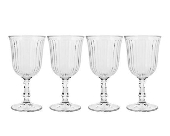 Set 4 Bicchieri Vino Vetro180 Ml