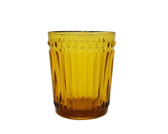 Bicchiere Vetro Ambra