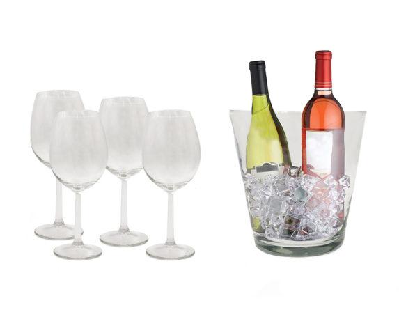 Servizio Champagne C/secchiello E 4 Calici