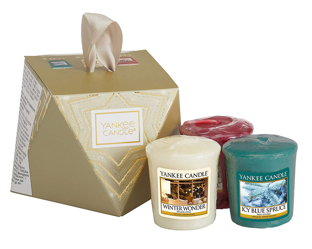 YANKEE CANDLE STOCKING FILLER GIFT SET MED C3 CAND
