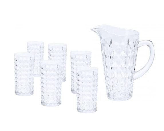 Caraffa Vetro C/6 Bicchieri