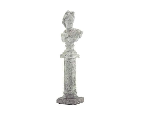 Busto Colonna Romana Ceramica H64
