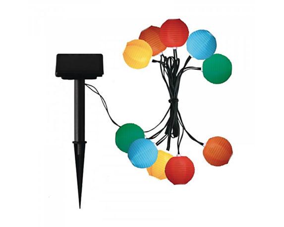 Catena 10 Lanterne Led Cinesi Multicolor Ad Energia Solare