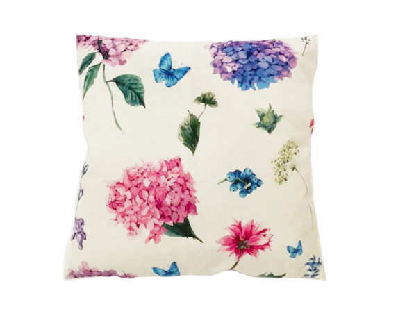 Cuscino Hydrangea E Farfalle 45×45