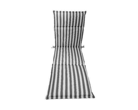 Cuscino Lettino Motivo A Righe Bianco/grigio
