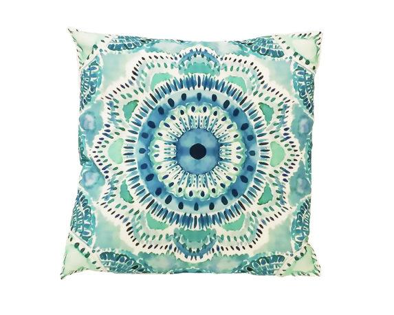 Cuscino Mandala Acquarello 45×45