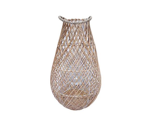 Lanterna Rattan Naturale H49 Cm