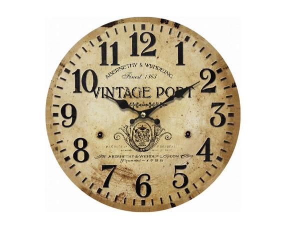 Orologio Vintage Port C-effetto Rilievo Mdf