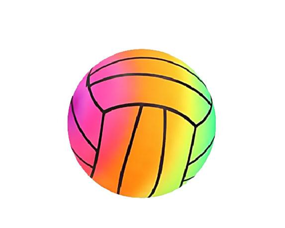 Pallone Da Spiaggia Raimbow Fun D22 Pvc