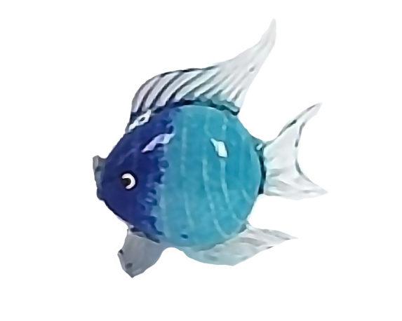Figura Pesce 28x8x18 Celeste/blu Vetro