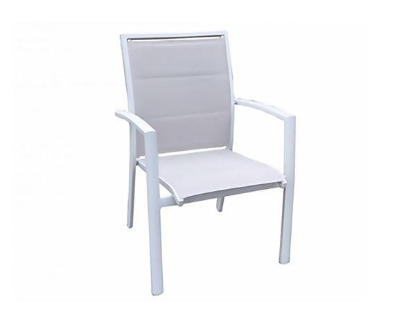 Sedia C-br Nordic Alluminio Bianca