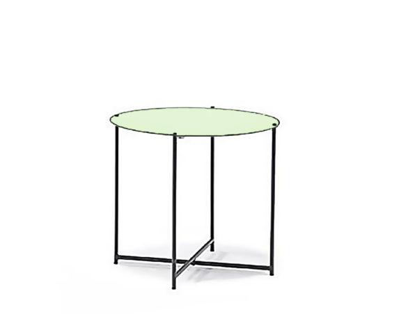 Tavolino Richiudibile Verde Alluminio