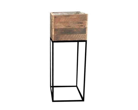 Alzata Porta Pianta Quadrata Large Legno/metallo