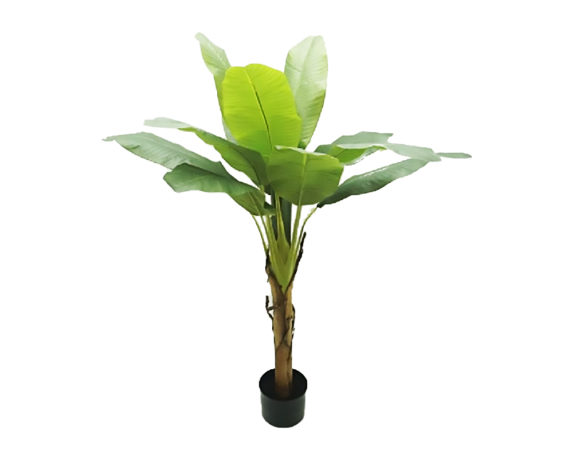 Banano Artificiale In Vaso H155